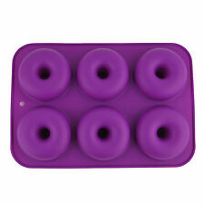 6 Cavity Silicone Donuts Mould Chocolate Candy Muffin Candy Making Molds Tray