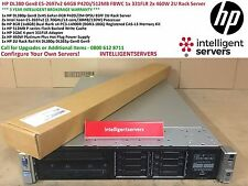 HP DL380p Gen8 2x e5-2697v2 64GB p420i / 512MB FBWC 331FLR 2x 460W 2U RACK SERVER