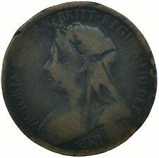 1900 HALF PENNY GB UK QUEEN VICTORIA COLLECTIBLE COIN    #WT31623
