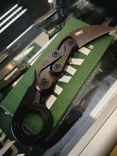 CRKT 4040E PROVOKE  EARTH KINEMATIC D2 STEEL JOE CASWELL KARAMBIT FOLDING KNIFE.