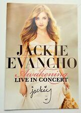Jackie Evancho REAL hand SIGNED Awakening Live In Concert Program COA #2