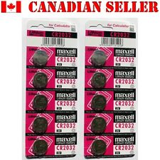10 NEW MAXELL CR2032 2032 3v Lithium Batteries. ECR2032 DL2032 Battery. JAPAN