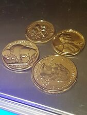 **Complete set USA 24k Gold Plated 1944 penny, dime, buffalo nickel and quarter
