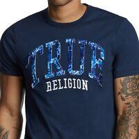 True Religion Men's Raised True Water Tech Tee T-Shirt in Ace Blue