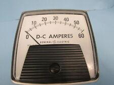 GE D-C AMPERES PANNEL METER TYPE DO-91