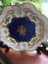 Exquisite Reichenbach German Plate Kobalt With Gold 32cms Wide