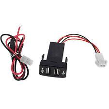For Toyota Vigo Usb Car 2.1A Dual Charger Smartphone Pda Dvr + Audio Input