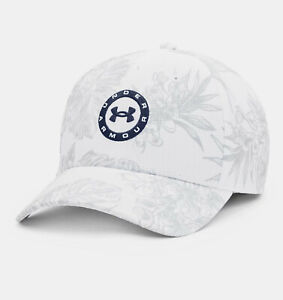 New 2021 Men's Under Armour Golf UA Jordan Spieth Tour Adjustable Hat White/Gray