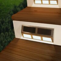 Wall Mounted Solar LED Light for Stairs Fence Deck Pathway , Lot of 4