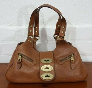 Mulberry 'Kensington' Tan Oak Darwin Leather Handbag VGC