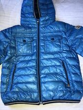 Authentic Moncler Kids Padded New Down Blue Hooded Jacket Size 4 Years