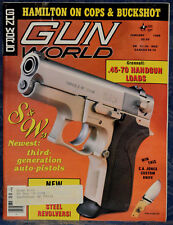 Magazine GUN WORLD January 1989 !!! CHARTER ARMS Pit Bull 9mm REVOLVER !!!