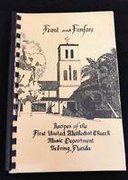 1985 Sebring Florida FL United Methodist Church community cookbook cook book