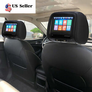 8in 12V Car Monitor Headrest Pillow Display MP5 Player/Bluetooth /USB Remoted US