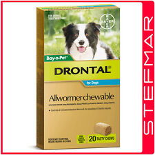 Bayer Bay-O-Pet Drontal Allwormer for Dogs 10kg Chews 20Pack