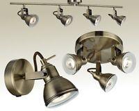 Deckenleuchte Messing Antik Wandlampe Spot Strahler Deckenlampe Lampe Leuchte