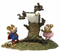 Wee Forest Folk Halloween mice ~ SISTER'S GHOSTLY TRICK ~  WFF mouse M-339