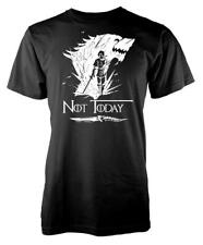 Game Of Thrones Wolf Arya Stark Not Today Adult T Shirt
