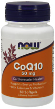 CoQ10 50mg With Vitamin E And Selenium Now Foods 50 Softgel