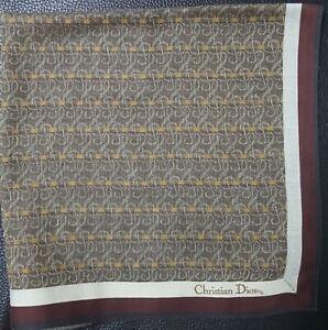 "Christian DiorUnisex Vintage Classic Pattern Cotton Square Handkerchief 18"""