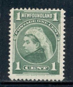 NEWFOUNDLAND 80 SG85 MH 1898 1c grn Queen Victoria Cat$6