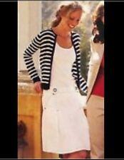 Womens cAbi #541 Skirt White Sz 4 Nautical Pleated White Side Pockets NWT