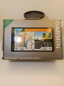 Garmin DriveSmart 7 W/Lifetime Maps & Traffic Sealed Bluetooth technology NEW