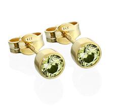 Paar Ohrstecker Gold 333er 4,50mm olive Zirkonia Damen Herren Kinder 6713