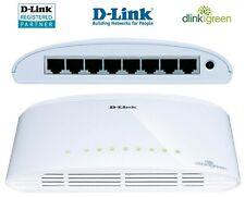 Red Gigabit switch 8 puertos d-Link dgs-1008d 10/100/1000 Mbit DSL LAN Hub