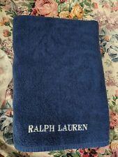 Ralph Lauren  Beach Towel Pure Cotton Royal Blue           68 x 35