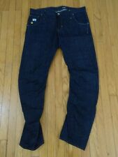 G-Star Arc 3D Slim Rigid Raw Jeans Cover Denim Tapered Leg Regular Fit 36