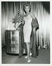 MARIANNE GABA BUSTY SLIP HIGH HEELS 77 SUNSET STRIP ORIGINAL 1962 ABC TV PHOTO