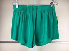 NEW Lily White Bright Green Flowy Pull-On Casual Shorts Size Large Juniors
