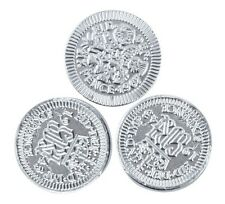 100x Milk Chocolate Sixpence Coins, Silver Foiled, Historical Gift, Casino
