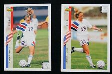 Upper Deck 1993 World Cup women's soccer trading cards USA 10 total