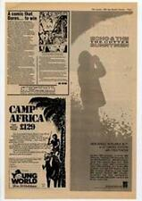 Echo & The Bunnymen The Cutter Tour Advert NME Cutting 1983
