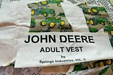 100% Cotton Flannel John Deere Vest and Muslin Lining Fabric Kit Adult