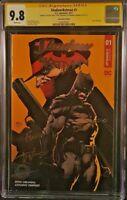 BATMAN SHADOW #1 CGC SS 9.8 SIGNED X3 DAVID FINCH DC COMICS FOIL LOGO EDITION
