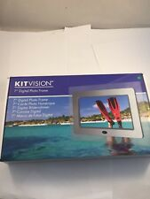 """Kitvision 7"""" Digital Photo Frame With Built-In Stand And Remote - DPF7SIKEU"""