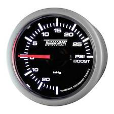 Turbosmart Turbo Boost Gauge 52mm - 0-30 PSI - Black Dial Face/White Detail