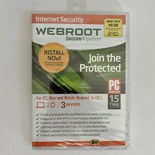 Webroot Secure Anywhere Internet Security Plus 3 Devices Factory Sealed MAC Pc