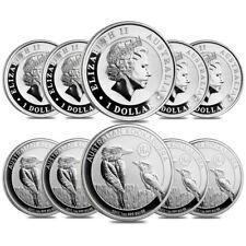 Lot of 10 - 2017 1 oz Silver Australian Kookaburra Panda Privy Perth Mint .999