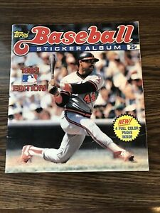 topps baseball sticker album 1983 edition INCOMPLETE - Used