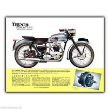 Triumph TIGER 110 T110 Retro Klassische Werbeanzeige METALLSCHILD WANDTAFEL