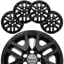 "4 BLACK fit 2014-2020 Nissan Frontier 16"" Wheel Skins Hub Caps Alloy Rim Covers"