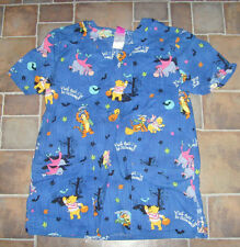 Winnie the Pooh Women's size small Halloween costumes Tigger Piglet scrub top