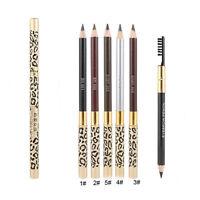 4 Colors Eyebrow Pencil Waterproof Eye Brow Eyeliner Pen With Brush Makeup Tool