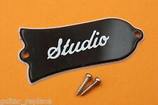Truss Rod Cover Gibson Les Paul Studio 2 Plies Negro Cubierta Alma Guitarra
