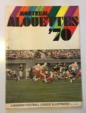 MONTREAL ALOUETTES '70 CANADIAN FOOTBALL LEAGUE ILLUSTRATED MAGAZINE VOL 1 NO. 8