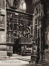 1925 JERUSALEM  Catholicon Church Interior ISRAEL Palestine Religious Photo Art